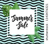 summer sale design with... | Shutterstock .eps vector #1143476321