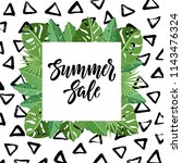 summer sale design with... | Shutterstock .eps vector #1143476324