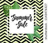 summer sale design with... | Shutterstock .eps vector #1143476327
