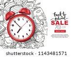 vector back to school sale... | Shutterstock .eps vector #1143481571