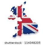 Shape 3d Of United Kingdom Map...