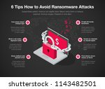 simple infographic for 6 tips... | Shutterstock .eps vector #1143482501