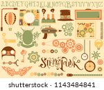 illustration of steampunk... | Shutterstock .eps vector #1143484841