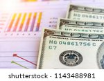 banknote and coins depicted on... | Shutterstock . vector #1143488981
