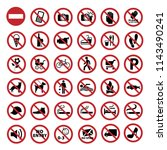 prohibition signs collection | Shutterstock .eps vector #1143490241