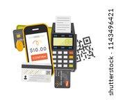 payment concept. vector... | Shutterstock .eps vector #1143496421
