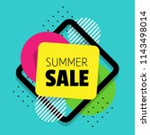 sale shapes. summer discounts. | Shutterstock .eps vector #1143498014