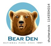 wild bear head emblem with... | Shutterstock .eps vector #1143504314