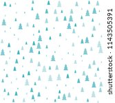 christmas trees seamless... | Shutterstock .eps vector #1143505391