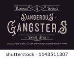 original handmade alphabet.... | Shutterstock .eps vector #1143511307