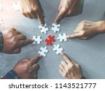 business people hands holding... | Shutterstock . vector #1143521777