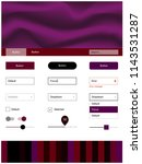 dark purple vector design ui...