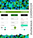light blue  green vector ui ux...