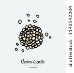 vegetable spice garlic chop....   Shutterstock .eps vector #1143542204