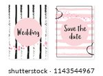 bridal shower set with dots and ... | Shutterstock .eps vector #1143544967