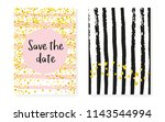 bridal shower card with dots... | Shutterstock .eps vector #1143544994