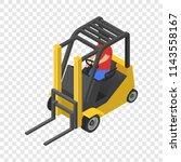 forklift icon. isometric of... | Shutterstock .eps vector #1143558167