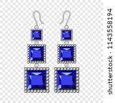 sapphire earrings mockup.... | Shutterstock .eps vector #1143558194