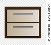 wood drawer mockup. realistic... | Shutterstock .eps vector #1143560504