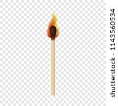match with fire flame mockup.... | Shutterstock .eps vector #1143560534