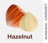 hazelnut icon. realistic...   Shutterstock .eps vector #1143562877