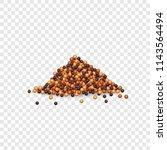 mustard bottle sauce mockup.... | Shutterstock .eps vector #1143564494