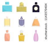fragrance bottles aroma flavor... | Shutterstock .eps vector #1143570404