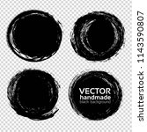 abstract round black textured... | Shutterstock .eps vector #1143590807
