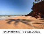 red cliffs bang sa phan  fung... | Shutterstock . vector #1143620531
