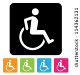 disabled symbol for your design | Shutterstock .eps vector #114362131