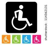 disabled symbol for your design | Shutterstock .eps vector #114362131