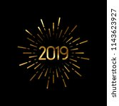 happy 2019 new year. holiday... | Shutterstock .eps vector #1143623927