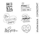 hand drawn doodle inspirational ... | Shutterstock .eps vector #1143625547