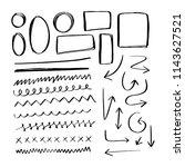 set of hand drawn doodles... | Shutterstock .eps vector #1143627521