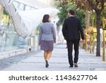 rear view of business people in ...   Shutterstock . vector #1143627704