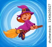witch banner for halloween | Shutterstock .eps vector #1143635027