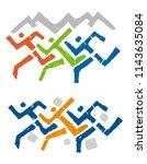 sport runners outdoor race... | Shutterstock .eps vector #1143635084
