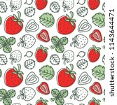 strawberry seamless pattern.... | Shutterstock .eps vector #1143644471