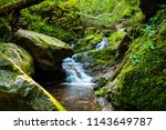 waterfall in lotenbachklamm... | Shutterstock . vector #1143649787