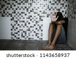 stop  child standing with... | Shutterstock . vector #1143658937