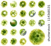 abstract globe set. vector... | Shutterstock .eps vector #114368131