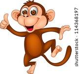 Stock photo monkey cartoon dancing 114368197