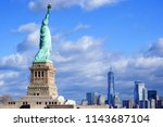 the statue liberty. new york.... | Shutterstock . vector #1143687104