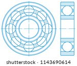 illustration of the contour... | Shutterstock .eps vector #1143690614