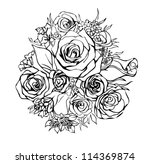 bouquet of roses | Shutterstock .eps vector #114369874