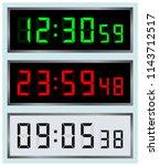 led alarm display. digital... | Shutterstock .eps vector #1143712517