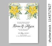 floral wedding invitation... | Shutterstock .eps vector #1143717827