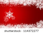 christmas decoration background ... | Shutterstock . vector #114372277