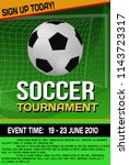 soccer tournament flyer or... | Shutterstock .eps vector #1143723317