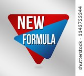 new formula sign or label on... | Shutterstock .eps vector #1143723344